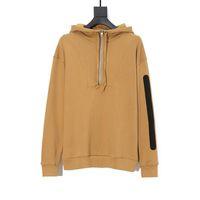 20FW Logo Baskılı Hoodie Kış Coat Moda Erkekler Kadınlar Uzun Kollu Sweatshirt Casual Siyah Ve Haki Kapüşonlular XSbedeni-L