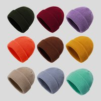2020 Solid Color slouch Beanies Hat knitted Winter Warm Ski Hats Men Women Multicolor Skullies Caps Soft Elastic Cap Sport Bonnet gorro