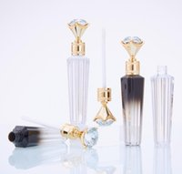 5ml Fashion Diamond Lip Gloss Tubes Clear Empty Lip Gloss Tube Lip Gloss Travel Bottle Packaging Containers Refillable Lipgloss Bottles