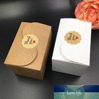 30pcs / lot del papel de Kraft Cake Box natural, regalo del partido de la caja de embalaje, Cookie / caramelo / tuercas de la caja / embalaje caja de DIY, alta calidad 90x60x60MM