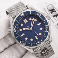 Ceramic Bezel Мужская мода механическая автоматическая привод движения 300 м 007 James Bond Master Master NTO Designer WritWatches часы 2021