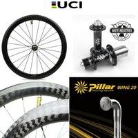 700C دراجة الكربون عجلة الطريق دراجة العجلات مع الصناعات البيضاء T11 HUB عمود الجناح 20 خفيفة الوزن المتحدث