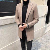 La lana maschile miscela di cappotti crescono un cappotto di stoffa di lana invernale in uomini di edizione di Han maschile da tenere il caldo