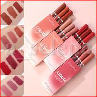 Lip Makeup Set 3pcs / set opaco Lipgloss nude sexy liquido rosso Rossetto impermeabile duratura Latte Fragrance kit Lip Gloss