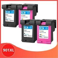 4 ADET 901XL Kartuş 901 XL için Uyumlu 901 Mürekkep Kartuşu Ofishet 4500 J4500 J4540 J4550 J4580 J4680 Yazıcı1