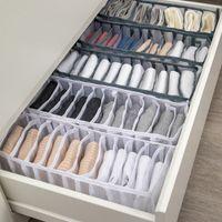 organizador do armário dormitório para meias casa cueca caixa de armazenamento 7 grades bra organizador dobrável gaveta organizador separados