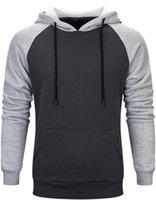 Patchwork Men's Hoodies Sweatshirts Winter Spring Men Hip Hop Streetwear Fashion Kanga Pocket Casual Male Hoodies Coats EU Size
