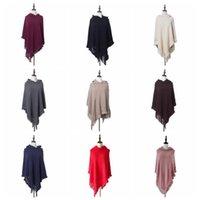 Tassele Poncho Colid Fringed шаль с капюшоном винтаж зимний накидливый шарф модные обертывания кардиган плащом пальто свитер летние женщины вязать шарфы D6863