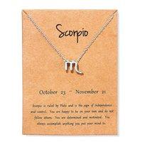 Donne 12 Oroscopo Segno zodiacale Ciondolo Colore Oro collana Toro Ariete Leo 12 costellazioni gioielli regali dei capretti di Natale
