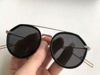 0219s Black Ruthenium Sonnenbrille Homme Sonnenbrille Männer Pilot Sonnenbrille Töntes Neu mit Box