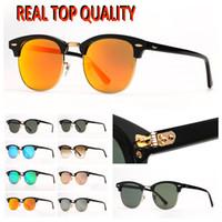 Mens Club 선글라스 패션 여성 선글라스 인기있는 뜨거운 판매 태양 구동 안경 Tortoise 프레임 오렌지 미러 안경 렌즈