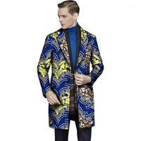 Ternos masculinos Blazers Estilo Africano Imprimir Homens Terno Casacos Roupas X-Long para Festa Personalizar o Suit1 do Homem1
