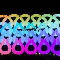 Iluminação LED inflável arco arco para a propaganda de alta qualidade arco de balões para o evento bar barraca do brinquedo AirGate promocional