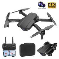 LSKJ E99 PRO2 RC MINI DRONE 4K HD DUAL CÁMARA WIFI FPV PROFESIONAL PROFESIONAL FOTOGRAFÍA HELICOPTER PLOTBLE QUADCOPTER DRON TOYS 201208