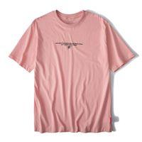 2021 Новая Африка Эдем Летние Мода Любители Кран Напечатаны Мужская одежда Японский Стиль Хараджуку с коротким рукавом Свободная хлопковая футболка R0WV