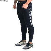 Мужские штаны yemeke 2021 спортивные залы Мужские Joggers Fitness Повседневная мода Бренд спортивные штаны Нижняя мужская буква Printing1