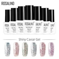ROSALIND UV Nail Gel Glitter Dazzling Gel Nail Varnish Hybrid Semi Permanent Base Top Coat Soal Off UV Gel Polish
