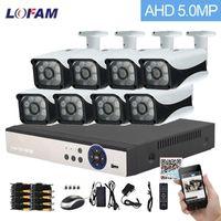 Lofam CCTV نظام 8CH AHD 5MP N 3G WIFI DVR NVR الأمن نظام كاميرا في الهواء الطلق للماء مراقبة الفيديو كاميرا CCTV كيت 8CH1