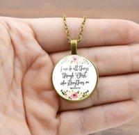 Philippiens 4:13 via Christ Bible Verset Pendentif Collier Inspirational Bijoux Christian Cadeaux PS0490