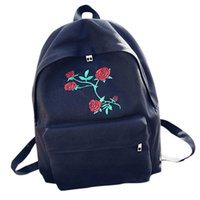 Bag Accessory 2021 Women Girls Embroidery Rose School Travel Drop <=487g37 Backpack