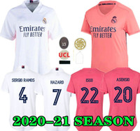 Gefahren 20 21 Frauen Real Madrid Home Fussball Jersey 2020 2021 Lady Ronaldo Asensio Bale Ramos Isco Modric Away Dritter Feminine Football Hemd
