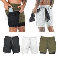 2-em-1 homens Caminhadas de fitness shorts de compressão calções calças de fundo camada base para treino rodando jogging boxing placas11