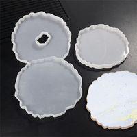 Cucina tazza pad dispensando muffa fai da te cristallo erogazione tazza tazza tampone stampo in silicone decorazione tavola decorazione vassoio strumento artigianale 9034