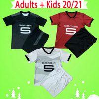 Детский комплект 20 21 Rennes Soccer Jersey 2020 2021 Raphinha Niang Terrier Stade Rennais Bourigeaud Boys Set Футбольные рубашки Детский костюм Maillot
