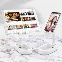 Universalmetall Folding Schreibtisch-Telefon-Halter einstellbarer Winkel faltbare Mobilstandplatz-Halter Smartphone-Tablet mit Spiegel
