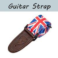 Naomi 1 Pc Strap de guitarra elétrica w / PU termina de couro ajustável alça de ombro