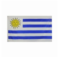 Uruguay-Flagge Hohe Qualität 3x5 FT nationale Fahne 90x150cm Festival-Party-Geschenk 100D Polyester Indoor Outdoor Printed Flaggen und Banner