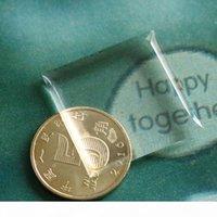 """100 шт. 1 """"Мягкие эпоксидные наклейки очень прозрачные 25,4 мм квадратная кристаллическая смола этикетка самоклеясь не пожелание OEM добро пожаловать"""