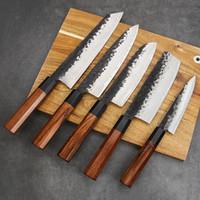 수제 클래드 철강 전문 일본 주방 나이프 요리사 나 키리 나이프 고기 칼 스시 knifes 유틸리티 커터
