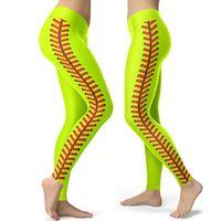 Softball Digital Stampato Leggings Designer a vita alta Designer Pantaloni da yoga Collant High-Bounce Sports Pant Pantaloni di moda Abbigliamento YL1413 197 K2