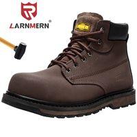 Ларнмерная мужская стальная носящая обувь для защитной одежды дышащая строительная защитная обувь против разбивки не скользкие песостойкие рабочие ботинки 201223