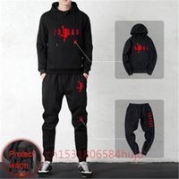 Hiver Hiver Merk Sportkleding TrainingSpakken 2 Stuk Mannen Kleding Hoodies + Broek Sets Homme Streetswear Jas Jassen