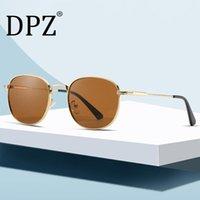 Güneş Gözlüğü 2021 DPZ Moda Vintage Yuvarlak Metal Tarzı Pilot Üst Klasik Retro Marka Tasarım Güneş Gözlükleri