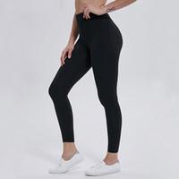 Euoka بلون اللون المرأة اليوغا السراويل عالية الخصر الرياضة رياضة ارتداء طماق مرونة اللياقة سيدة الشاملة الجوارب الكامل تجريب حجم XS-XL