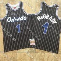 رجالي الرجعيةأورلاندوسحرجيرسي رخيصة تريسي الأبيض McGrady1 ميتشيل 2003/2004 مخيط الأخشاب الصلبةالكلاسيكية كرة السلة الفانيلة قمصان Sweatpants