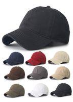 모자 모자 야구 단단한 일반 공 공 빈 코튼 조정 가능한 씻어 모자 유니섹스 야구 골프 공 스포츠 모자