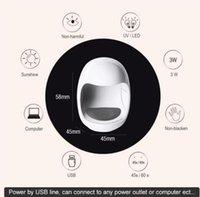 Mini Forme d'oeuf Design Séchoirs à ongles 3W USB UV LED LED Lampe Sèche-clougeurs 30S Séchage de séchage rapide Polonaise Séchage de vernis Nouveau 2021