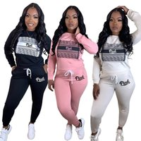 PINK Brand Designer Women Tracksuit Hoodies+ Leggings 2 pcs S...