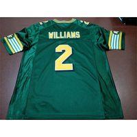Benutzerdefinierte 888 Jugendfrauen Vintage Edmonton Eskimos # 2 Gizmo Williams Football Jersey Größe S-4XL oder benutzerdefinierte Name oder Nummer Jersey
