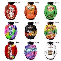 Plus Größe Kartoffelchips Hoodie Pullover Mit Kapuze Sweatshirt Frauen Herren French Friens Foodie Fastfood Snacks Candy Print Designer Tuch E122109