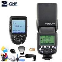 Clignote Godox Ving V860II-S LI-ON Batterie Caméra de batterie 2.4G SpeedLitel HSS + Transmetteur sans fil XPRO-S déclenche pour1