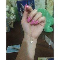 S1418 Bijoux de mode chaude Double couche Heart Coeur Chaîne Ankin En Alliage Beads Bracelet Bea Sqcsjm DH_Seller2010