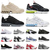 Yüksek Kaliteli Zoom Spiridon Cage 2 Bej Tenis Eğitmenler Zoom 2 K Klasik Vintage Spor Sneakers Siyah Beyaz Erkek Bayan Koşu Ayakkabıları