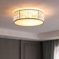 크리스탈 천장 조명 led 침실 램프 간단한 둥근 방 집 거실 식당 식당 노르딕 라이트 럭셔리 라이트