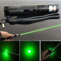 10 Meilen Army Green Toy Laser Zeiger Kugelschreiber Outdoor Adventure Astronomie 532nm Leistungsstarke Katze Einstellbarer Fokus + 18650 Batterieladegerät