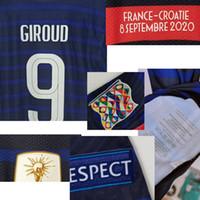 2020 Match Worn Playe Propósito Mbappe Camavinga Martial Giroud Kante Pogba Giroud Griezmann com Detalhes Detalhes Futebol Patch Badge